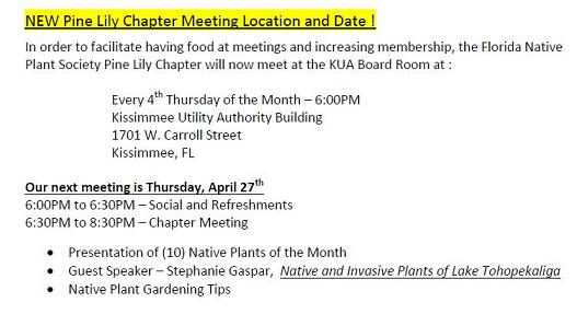 New Meeting Location KUA.  4th Thursday of the Month 6:00pm